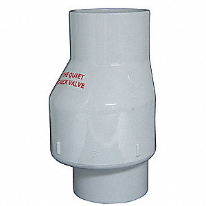 "3"" Full Flow Check Valve, PVC, Solvent Weld Connection Type"