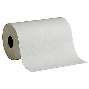 400 ft. 1-Ply Paper Towel Roll, White&#x3b; PK6