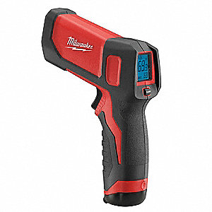 Infrared Thermometer, -22° to 662°F Temp. Range (F), Includes: Mfr. No. 2265-20 Laser Temp Gun(TM) T