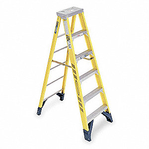 6 ft. 375 lb. Load Capacity Fiberglass Stepladder