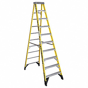 10 ft. 375 lb. Load Capacity Fiberglass Stepladder