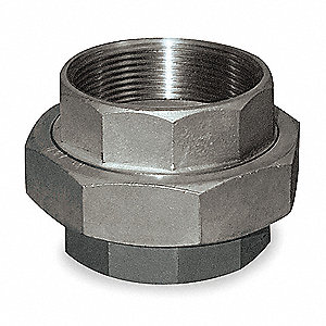 "316 Stainless Steel Union, FNPT, 3/4"" Pipe Size"