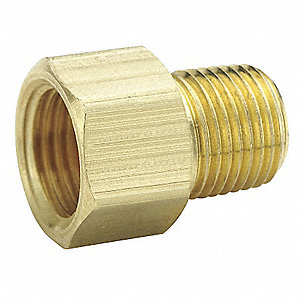 "Male Connector, Flare x MNPS Connection Type, 1/2"" Tube Size, 10PK"