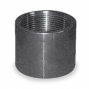 Coupling,1 1/2 In,Threaded,316 SS