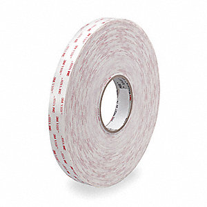 VHB Tape,1 In x 108 ft.,White