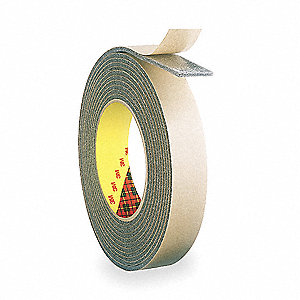 Double Sided Tape,PE Foam,1in,White,36yd
