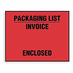 Packing List Envelope,Red,PK1000