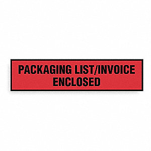 Packing List Envelope,Clear,PK1000