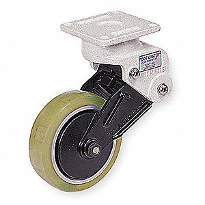 "4"" Rigid Plate Shock-Absorbing Caster, 165 lb. Load Rating"