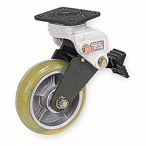 "6"" Swivel Plate Shock-Absorbing Caster, 550 lb. Load Rating"