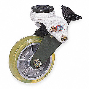 "6"" Swivel Stem Shock-Absorbing Caster with 550 lb. Load Rating and Ball Caster Wheel Bearings"