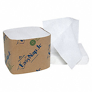 "4 x 9-7/8"" 1-Ply Embossed Dispenser Napkin EasyNap Jr®, White&#x3b; PK9000"