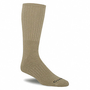 Work,Socks,Crew,Mens,L,Khaki,PK3