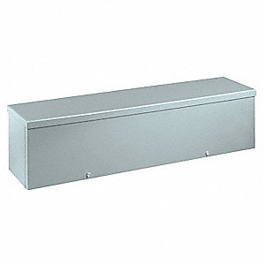 "4""H x 24""W x 4""D Metallic Wiring Trough, Silver, Knockouts: Yes, Screws Closure Method"