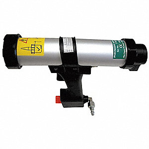300mL Aluminum Pistol Grip Pneumatic Caulk Gun, 0 to 100 psi Pressure Range
