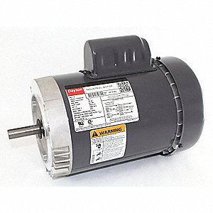 1 HP General Purpose Motor,Capacitor-Start,3450 Nameplate RPM,Voltage 115/208-230,Frame 56C