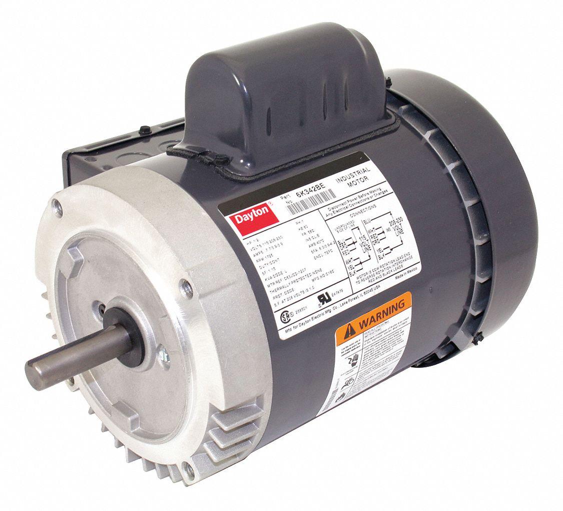 dayton 1 2 hp general purpose motor,capacitor start,1725 nameplate AC Motor Capacitor Wiring Diagram dayton 1 2 hp general purpose motor,capacitor start,1725 nameplate rpm,voltage 115 208 230,frame 56c 6k342 6k342 grainger