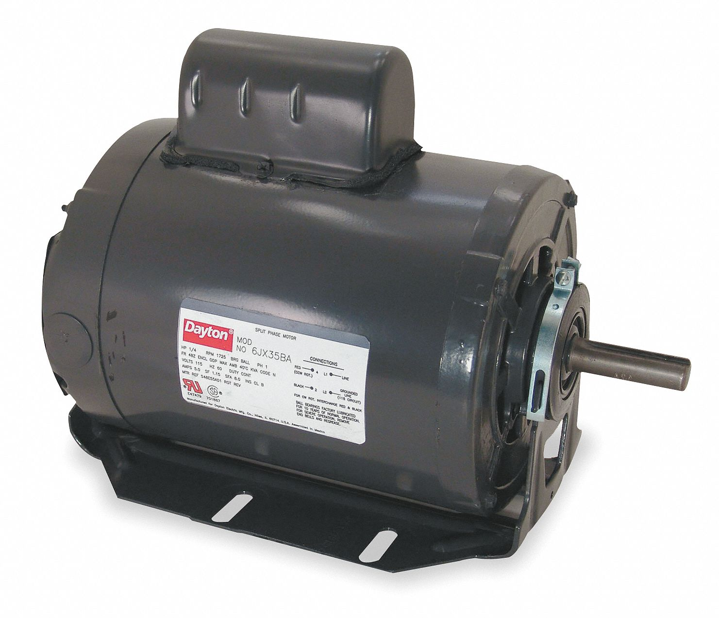 6K346_AS01 dayton gp mtr,cs,odp,3 4 hp,3450 rpm,56 6k346 6k346 grainger  at aneh.co