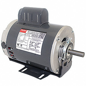 3/4 HP Belt Drive Motor, Capacitor-Start, 1725 Nameplate RPM, 115-230 Voltage, Frame 56