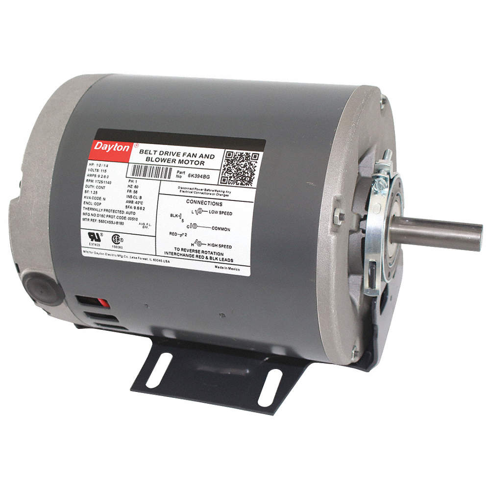 1/2, 1/4 HP Belt Drive Motor, Split-Phase, 1725/1140 Nameplate RPM, Dayton Split Phase Electric Motor Wiring Diagram on