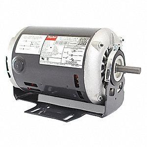 1/4, 1/8 HP Belt Drive Motor, Split-Phase, 1725/1140 Nameplate RPM, 115 Voltage, Frame 56Z