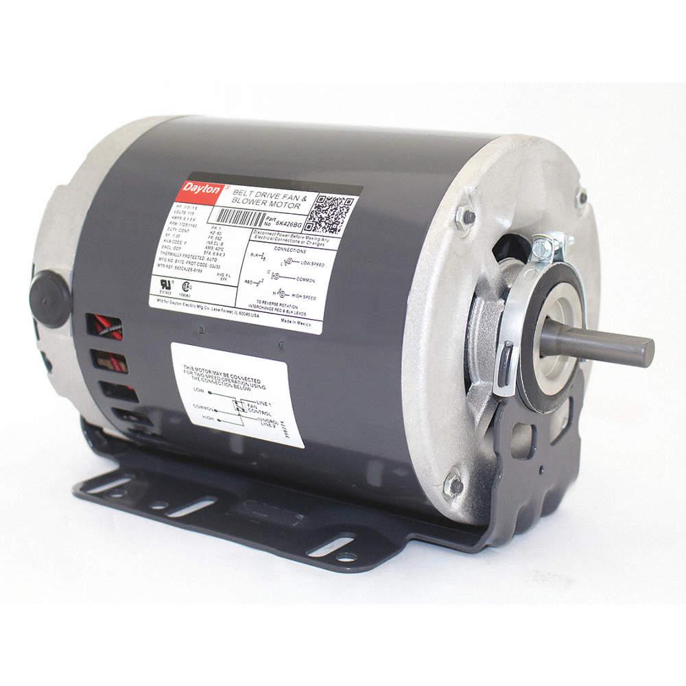 1/3, 1/6 HP Belt Drive Motor, Split-Phase, 1725/1140 Nameplate RPM, Dayton Pressure Washer Motor Wiring Diagram on