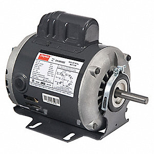 1/4 HP General Purpose Motor,Capacitor-Start,1725/1425 Nameplate RPM,Voltage 115/230,Frame 48Z