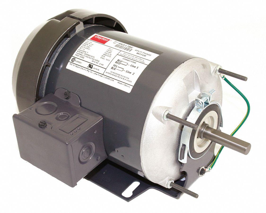 6K517 Details about  /DAYTON General Purpose 1//4 HP 1725 RPM Split Phase Motor Model No