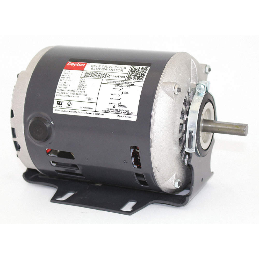 1/6 HP Belt Drive Motor, Split-Phase, 1725 Nameplate RPM, 115 Voltage, Dayton Fractional Hp Motors Wiring Diagram on