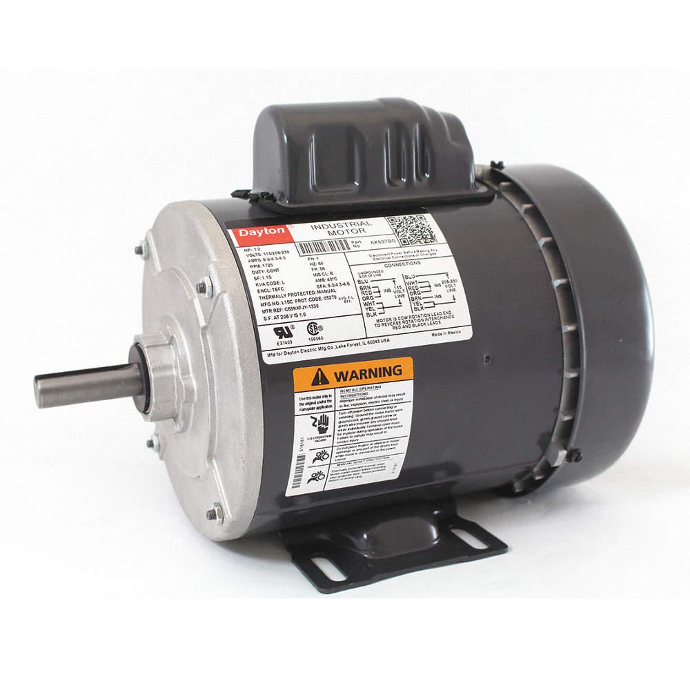 1/2 HP General Purpose Motor,Capacitor-Start,1725 Nameplate RPM,Voltage Dayton Gas Powered Generator Wiring Diagram on