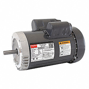 1-1/2 HP General Purpose Motor,Capacitor-Start,1725 Nameplate RPM,Voltage 115/208-230,Frame 56C