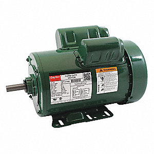 1-1/2 HP High Torque Farm Duty Motor,Capacitor-Start/Run,1725 Nameplate RPM,115/230 Voltage