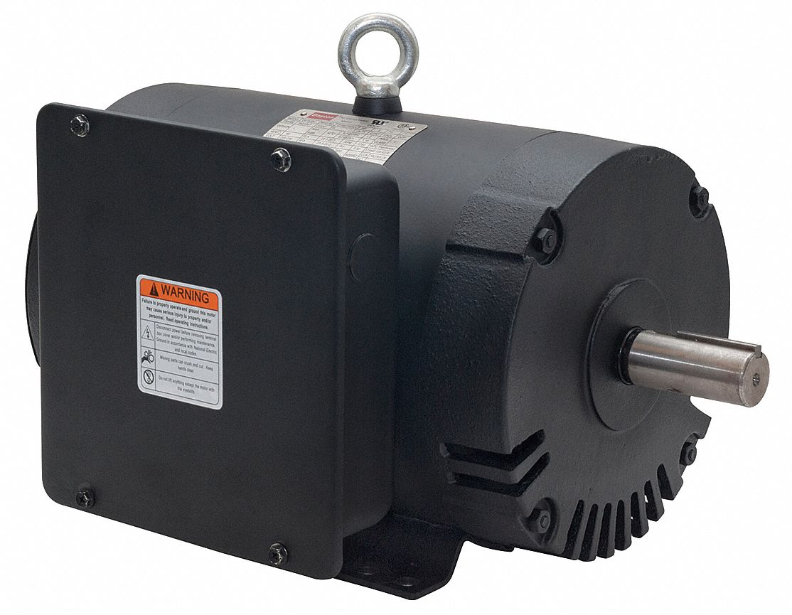 DAYTON 5 HP Commercial Duty Air Compressor MotorCapacitorStartRun