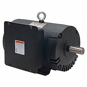5 HP Air Compressor Motor,Capacitor-Start/Run,1740 Nameplate RPM,230 Voltage,Frame 182/4T