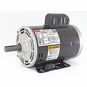 1-1/2 HP General Purpose Motor,Capacitor-Start,1725 Nameplate RPM,Voltage 115/208-230,Frame 145T