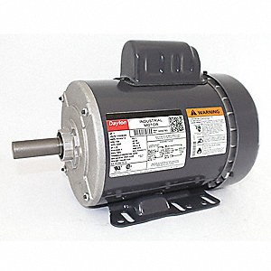 1 HP General Purpose Motor,Capacitor-Start,1725 Nameplate RPM,Voltage 115/208-230,Frame 143T