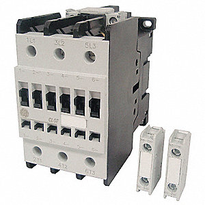 120VAC IEC Magnetic Contactor; No. of Poles 3, Reversing: No, 48 Full Load Amps-Inductive