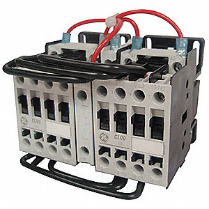 120VAC IEC Magnetic Contactor; No. of Poles 3, Reversing: Yes, 13.8 Full Load Amps-Inductive