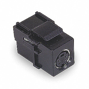 Keystone Jack, Black, Plastic, Series: iSTATION, Cable Type: S-Video