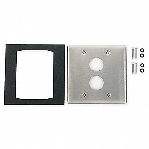 Wall Plate,2port,2gang