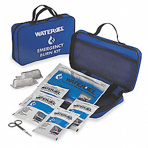 Nylon Burn Care Kit, Blue&#x3b; People Served: 5