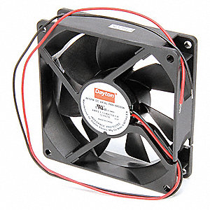 "Square Axial Fan, 3-5/8"" Width, 3-5/8"" Height, 12VDC Voltage"
