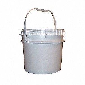 3.5 gal. High Density Polyethylene Round Pail, White