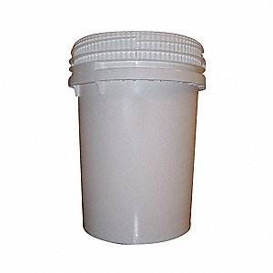 12.2 gal. High Density Polyethylene Round Pail, White