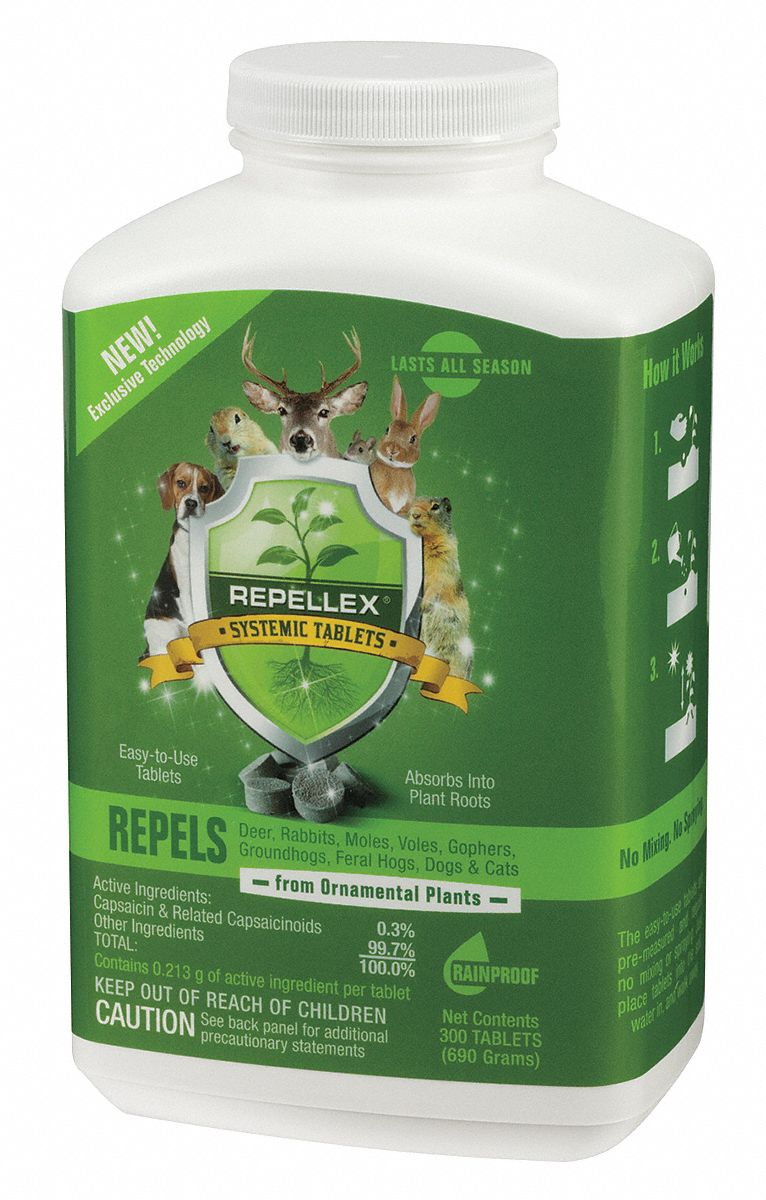 Systemic Animal Repellent, Used For Deterring Animals Like Deer, Rabbits, Voles, Moles, Gophers, Gro