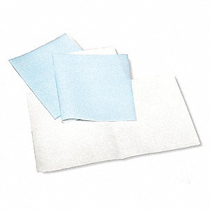 Absorbent Pad,Chem/Hazmat,Blue/White