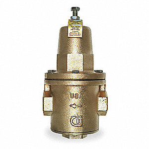 "Water Pressure Reducing Valve, Super Capacity Valve Type, Bronze, 2"" Pipe Size"