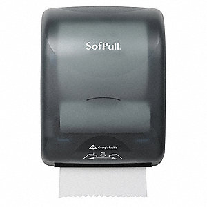 Paper Towel Dispenser,Hardwound,Smoke