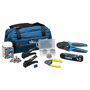 Communications Tool Kit, Number of Pieces:  10, Application:  Termination For Crimp And Compression