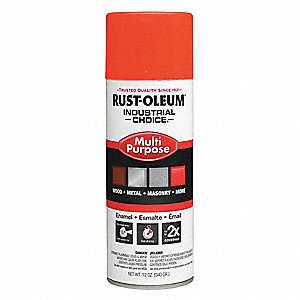 Industrial Choice Spray Paint Orange for Masonry, Metal, Wood, 12 oz.